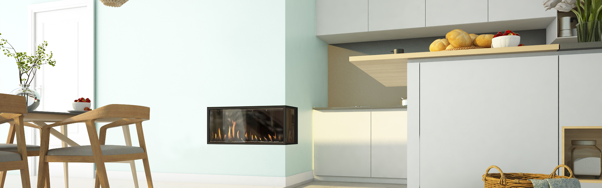 CLEAR CORNER RS/LS 90 FIREPLACE