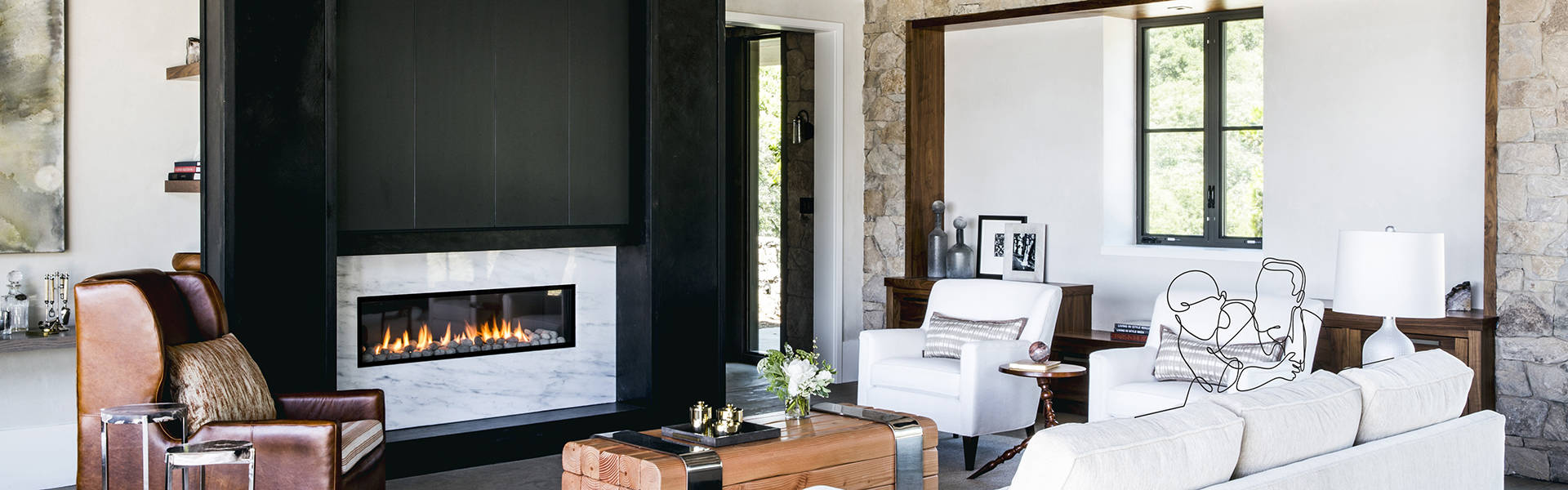 Lyric Modern Fireplace Collections
