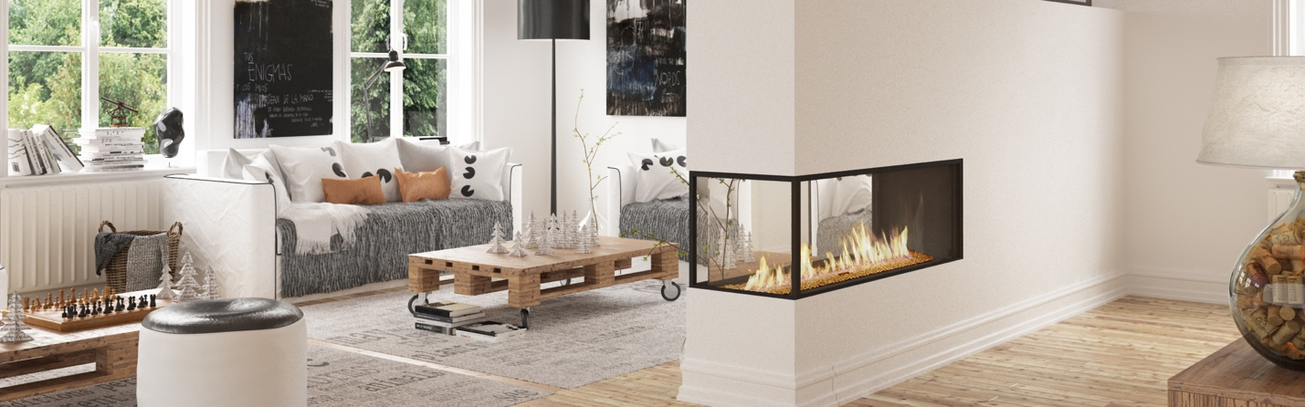 modern linear gas fireplaces