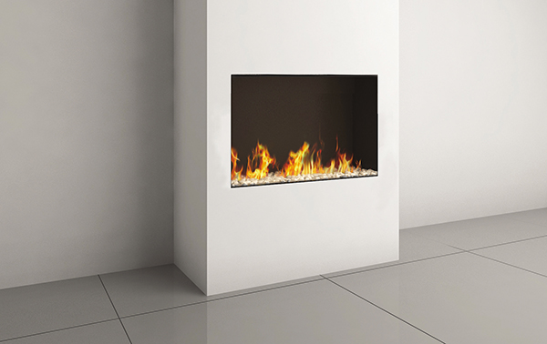 CLEAR FRONT FACING 90H FIREPLACE