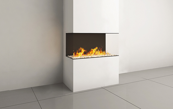CLEAR ROOM DIVIDER 90 FIREPLACE
