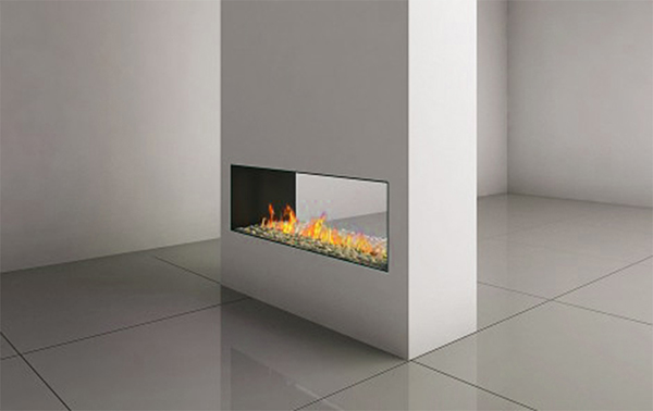 CLEAR SEE THROUGH 110 FIREPLACE