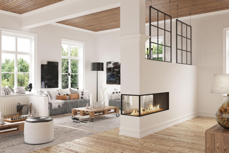 A Lyric 120 Peninsula Fireplace